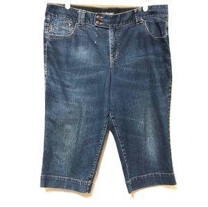 Lane Bryant tummy mid raise Capri jean blu…